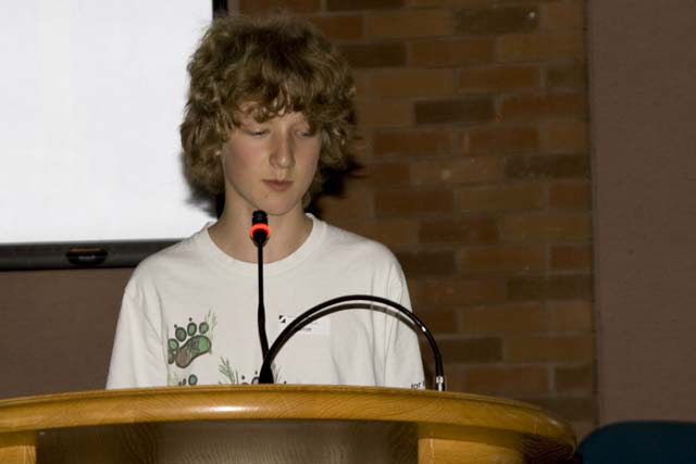 Jakob presents Eco Journalism essay