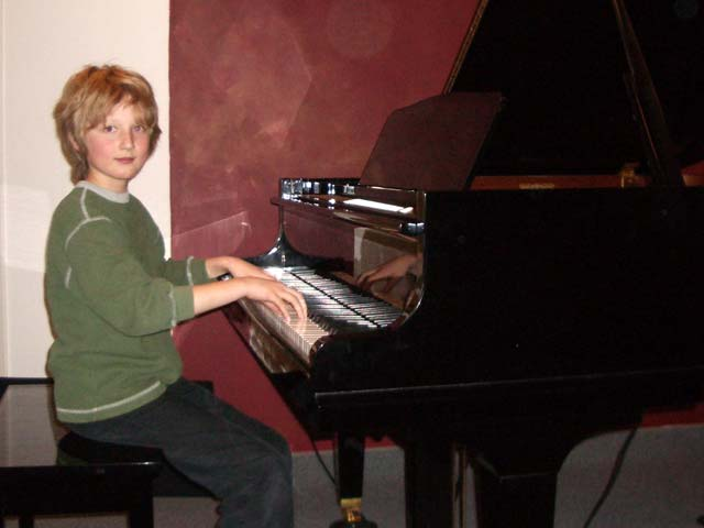 Jakob at the piano