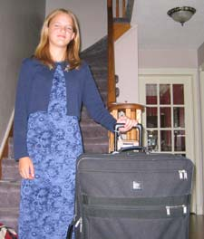 Kristin packed for Nova Scotia