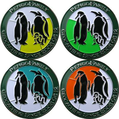 PengoFamily geocoin set