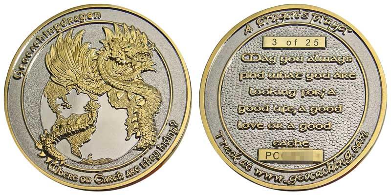 GeocachingDragon v1.2 (Gold/Nickel)