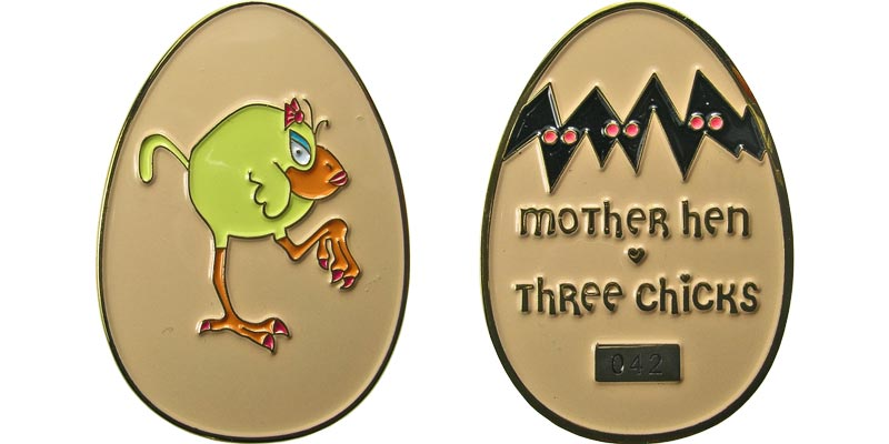 Mother Hen Three Chicks